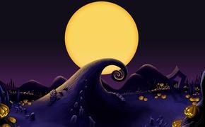 Картинка Луна, Тыквы, Moon, Pumpkin, Jack Skellington