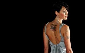Картинка fashion, dress, design, woman, Style, short hair, Beauty, tattoo, hair, glory, eye, look, soft, luxury, …