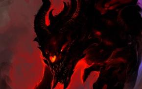 Картинка тьма, огонь, демон, арт, зло, Kaiju, Demon Kaiju