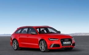 Картинка красный, Audi, ауди, Red, универсал, Avant, RS 6