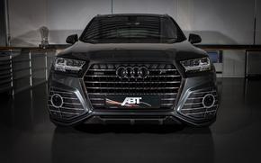 Обои ABT, черный, Black, ауди, морда, Audi