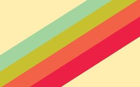 Обои красный, радуга, полоски, зеленый, голубой, оранжевый