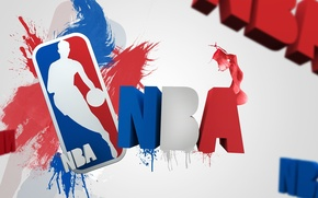 Картинка брызги, буквы, спорт, логотип, лого, logo, баскетбол, NBA, nba, National Basketball Association, Национальная баскетбольная ассоциация