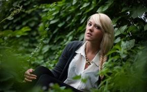 Картинка взгляд, девушка, природа, блондинка, Liz Yuricek