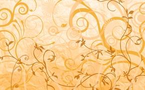Картинка цветы, абстракция, узоры, растения, орнаменты, веточки