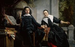 Картинка портрет, картина, Ян де Брай, Печатник из Харлема и Его Жена