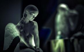 Картинка девушка, ангел, статуэтка, сувенир
