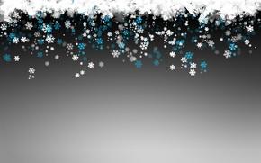 Картинка зима, снежинки, новый год