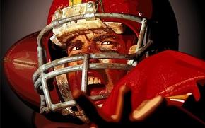 Картинка вектор, регби, шлем, спортсмен, американский футбол