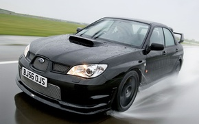 Обои 2006, Subaru, Impreza, чёрная, WRX
