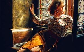 Картинка взгляд, губки, прелесть, рыжеволосая, Victoria Zhuzha