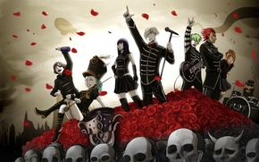 Обои арт, концерт, персонажи, death parade