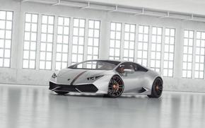 Картинка белый, Lamborghini, ангар, tuning, Huracan, LP 610