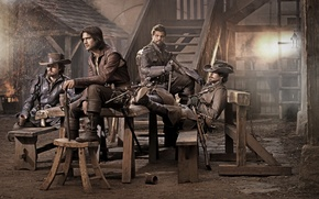 Картинка Сериал, Мушкетеры, The Musketeers, Tom Burke, Luke Pasqualino, Howard Charles, Santiago Cabrera