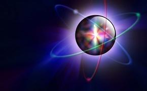Картинка свет цвет шар атом орбита