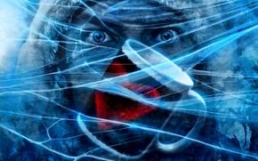 Картинка холод, лед, лицо, трещины, сердце, человек, арт, кружка, сердечко, романтика апокалипсиса, romantically apocalyptic, alexiuss