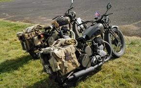 Картинка мотоциклы, военные, BSA, WM20, WDM20