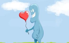 Картинка рисунок, Любовь, шарик