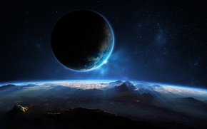 Картинка space, landscape, view, planet, sci fi