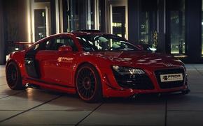 Картинка car, машина, Audi, ауди, красная, tuning, Prior-Design, GT650, приор-дизайн