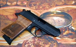 Картинка пистолет, оружие, Walther, самозарядный, PPK/S