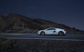 Картинка авто, белый, McLaren, суперкар, вид сбоку, макларен, 570GT