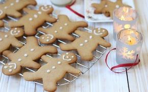 Картинка еда, свечи, Новый Год, печенье, Рождество, christmas, Christmas, food, выпечка, праздники, New Year, cookies, candles, …