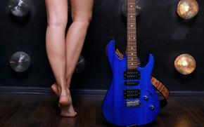 Картинка девушка, Гитара, ножки
