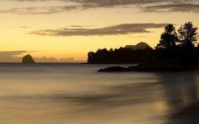 Картинка море, пейзаж, закат, Martinique, Ste.-Luce, Marin