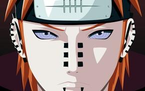 Картинка Naruto, man, face, sharingan, evil, Akatsuki, piercing, Yahiko, Nagato, Naruto Shippuden, doujutsu, hitaiate, nukenin, rinegan, …