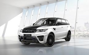 Картинка car, тюнинг, джип, внедорожник, Range Rover, tuning, автообои, Sport, Larte Design