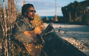 Картинка guitar, black, musician