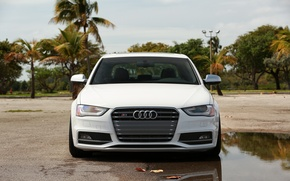 Картинка Audi, white, front, vossen wheels