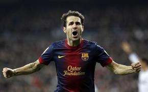 Картинка футбол, Барселона, Фабрегас, Fabregas, Barca, Cesc, El Classico, Goal, Cesc Fabregas
