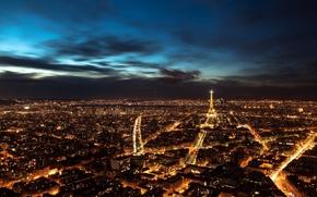 Картинка Франция, Париж, вечер, ночной город
