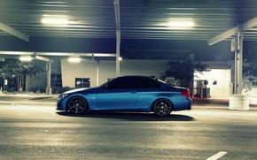 Картинка синий, бмв, BMW, матовый, side, E92, Matte, 3 серия, 3 Series, Blue Metallic