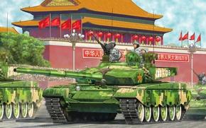 Картинка war, art, painting, tank, ZTZ-99 Chinese Tank