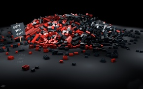 Картинка черный фон, lego, лего