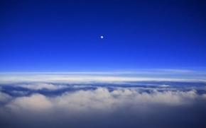 Обои луна, небо, облака