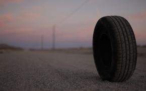 Картинка дорога, вечер, колесо