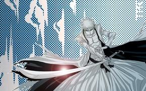 Картинка sword, game, Bleach, anime, katana, man, boy, bankai, asian, Kurosaki Ichigo, manga, japanese, yellow eyes, …
