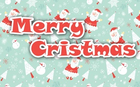 Картинка Рождество, Картинка, Дед Мороз, Merry Cristmas