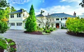 Картинка дом, вилла, двор, архитектура, экстерьер