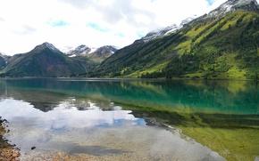 Картинка горы, озеро, саяны