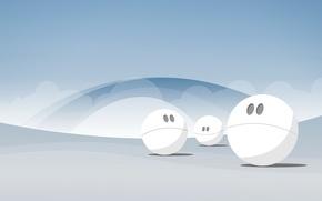 Обои шары, минимализм, вектор