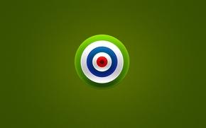 Картинка зеленый, круг, минимализм, мишень