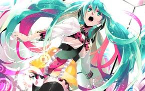 Картинка девушка, аниме, арт, галстук, Hatsune Miku, Vocaloid, Вокалоид, matoki