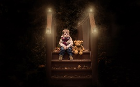 Картинка игрушка, мальчик, мишка