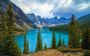 Moraine, Banff National Park, Canada, озеро, горы обои