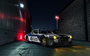 Картинка Chevrolet, Camaro, Car, Race, Front, Night, Rampage, 750HP